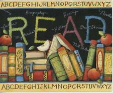 TEACHER CHALKBOARD APPLE ALPHABET ABC'S POETRY MYSTERIES BOOKS ART NOTE 1 CARD