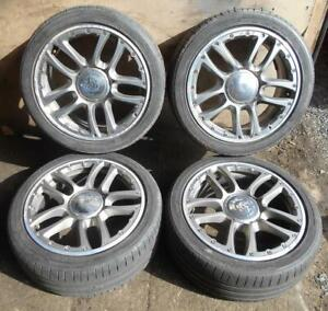 """FIAT 500 BY DIESEL 16"""" ALLOY WHEELS AND TYRES DESIGN BY DIESEL - RARE"""