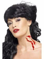 Bite Me Mutilation Halloween finta Latex scherzo CICATRICE Costume zombie