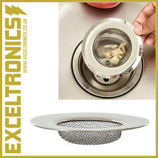 STAINLESS STEEL BATHTUB SINK SHOWER HAIR FOOD CATCHER DRAIN PLUG FILTER STRAINER