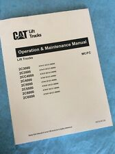 CAT CATERPILLAR 2C-3000/3500/4000/5000 FORKLIFT OPERATION MAINTENANCE MANUAL