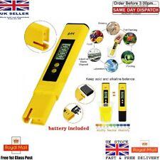 LCD Digital Electric PH Meter Tester Hydroponics Aquarium Water Test Pen LOT UK