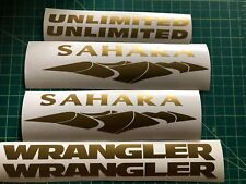 2 of Jeep Wrangler Sahara Unlimited Refresh Kit Vinyl Stickers Decal gold