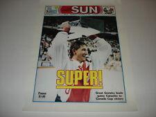 WAYNE GRETZKY very rare original Toronto Sun 12.5x17 poster Canada Cup 1987