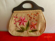 Mister Ernest Straw Tote Rose Flower Italian Handbag Crochet Bag Crafting 12+