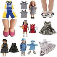Doll Pants Shoes Dress Skirt Tops For 18inch Girl Toy Doll Clothes Wear Z3F8