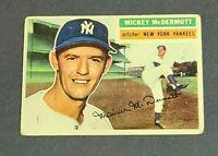 Mickey McDermott New York Yankees 1956 Topps #340 VG Corner, Surface Issues