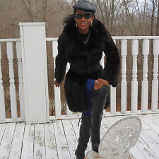 Mint Stylish Designer Vtg Russian sable Fur Coat jacket bolero stroller S 0-4