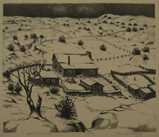 "Merritt Mauzey ""Ballard Ranch"" Lithograph  Member Dallas Nine Owned by 3 Museums"