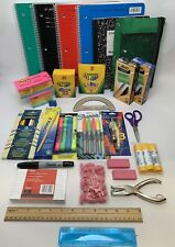 Back to School Essentials Supplies Kit Bundle Lot Gr. K-8 Notebooks, Sharpies...