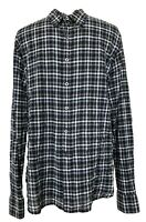 PAUL SMITH MEN'S GRAY/BLACK CHECK SHIRT, XL, $295