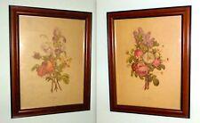 """2 Vintage """"J. L. PREVOST BOTANICAL PRINTS"""" framed, for 1 price"""