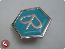 VESPA Horncast Hex Badge- Chrome Piaggio PX/T5/LML Blue