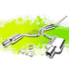 "4"" STAINLESS STEEL DUAL SLANT TIP CATBACK EXHAUST FOR 06-09 AUDI A4 2.0L TURBO"
