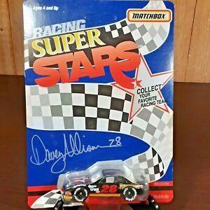 Vintage diecast 1991 Matchbox Mint unpunched Davey Allison NASCAR Super Stars