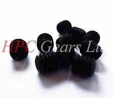 M3 M4 M5 M6 Black Grub Screws Pack of 50 Cup Point Steel Socket Set HPC Gears
