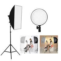 Andoer Studio Photography Softbox LED Light Kit with Stand Carry Bag EUPlug J4S9