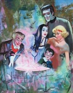 The Munsters Family Halloween TV 8x10 Craft & Quilt Cotton Fabric Block
