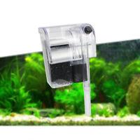 Aquarium Fish Tank Waterfall Hang On External Oxygen Pump Water Filter Tool GO9Z