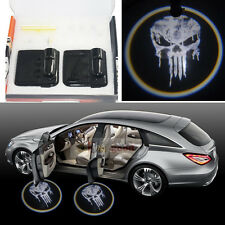 2 x Pale Punisher Skull Wireless Car Projection LED Projector Door Shadow Light