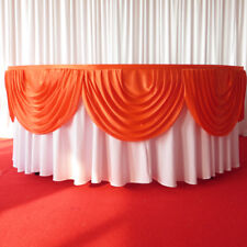 Silk Satin Red Detachable Swag For Wedding Backdrop Curtain Party  Decor-3M