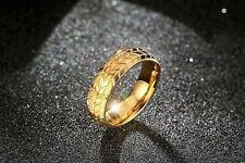 SALE  Unisex Edelstahl Ring Gelb Gold verg Gr 56 und 62 TOP PREIS SALE