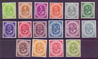 Bund 1951 - Posthorn MiNr. 123/138 ungebraucht - Michel 700,00 €++ (285)