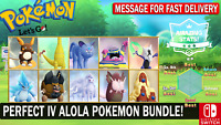 Pokemon Let's GO All Shiny Alola Pokemon Bundle [6 IV ] [Fast Delivery]
