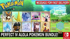 Pokemon Let's GO All Shiny Alola Pokemon Bundle [6 IV ] [Fast Delivery]