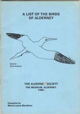 A List of the Birds of Alderney by Marie-Louise Mendham 1990-(32 pages inc Map)