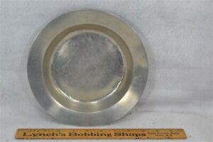 pewter plate charger bowl 9 in Breuninger vtg original good