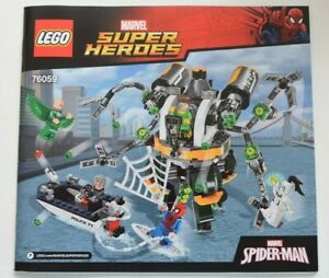 LEGO 76059 MARVEL SUPER HEROES DOC OCK'S TENTACLE TRAP - INSTRUCTION MANUAL ONLY