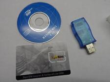 SUPERSIM CARTE SIM VIERGE + LECTEUR SUPER SIM SAUVEGARDE CLONE PORTABLE CODE PUK