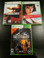 Xbox 360 3 Game Lot ~ Battlefield 3, Stranglehold & Mirrors Edge