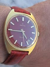 VINTAGE ZENITH SPORTO LIMITED EDITION CAL.2562C MENS BIG SIZE 36X43mm RARE DIAL