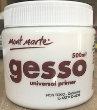 Mont Marte White Gesso Universal Primier 500ml Non-Toxic Wholesale Art Supply