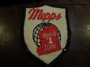 Vintage Mepps World's #1 Lure Sew On Fishing Shield Patch