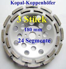 3 x Diamant-Schleiftopf Schleifteller 180 mm  -Neu- Top Betonschleifer