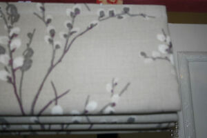 Roman Blind, Laura Ashley Pussy Willow Fabric Natural  (Made to measure)
