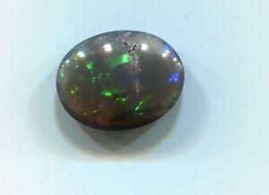 Natural 3.35 carat Australian Black Opal 12 mm x 10 mm Stunning Stone