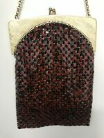 Vintage Mesh Whiting & Davis Co. Purse Shoulder Bag Petite Chain Strap Handbag