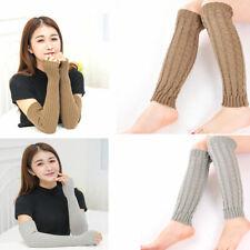Arm Hand Warmer Long Knitted Womens Man Fingerless Gloves Mitten Winter Wrist