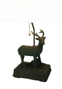 Scratch & Dent Verdigris Patina Standing Deer Rustic Table Lamp Base Only