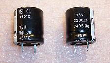 QTY (5)  2200uf 35V 85' SNAP-IN ELECTROLYTIC CAPACITORS ECES1VU222D PANASONIC