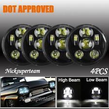 "DOT 4pcs 5.75 5-3/4"" 360W Hi/Lo LED Headlights for Chevy Corvette Chevelle GMC"
