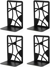 Book Ends, Bookends, Veecom Black Metal Bookends for Shelves, Non Skid Bookend H