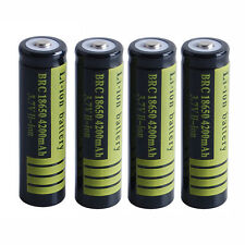 4X BRC18650 4200mAh 3.7V Rechargeable Li-ion Battery fr Flashlight torch Protect