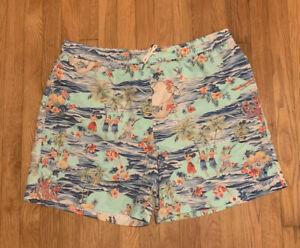 Polo Ralph Lauren Swim Trunks Swimsuit Hawaiian Luau Girls Palms Men 2XB 2XL RL