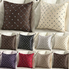 Square Cotton Lattice Throw Pillow Case Waist Cushion Covers Sofa Home Bed Decor