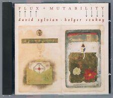 DAVID SYLVIAN & HOLGER CZUKAY  FLUX + MUTABILITY CD OTTIMO!!!